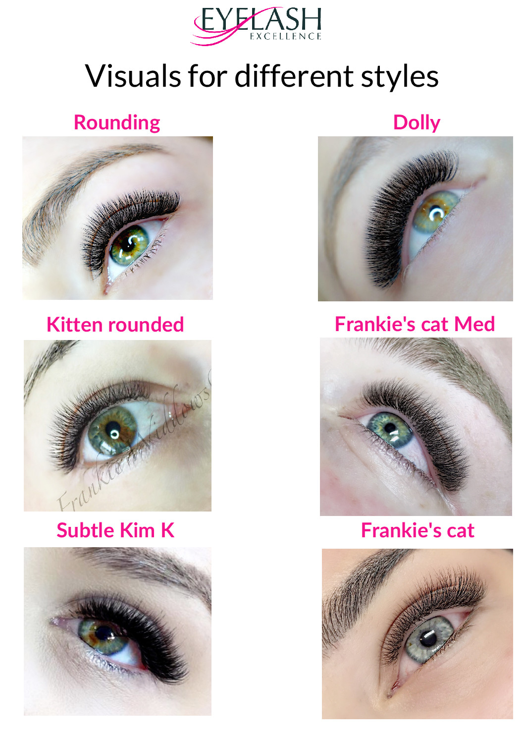 New Improved Eye Styling Guides Eyelash Excellence