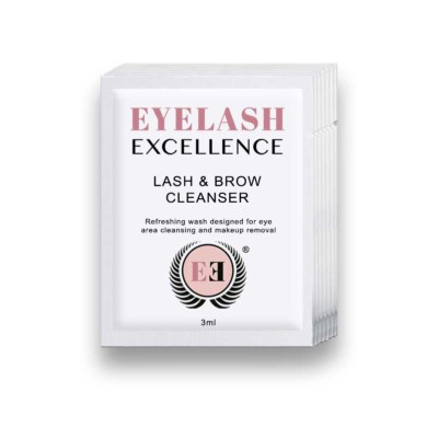 EYELASH AND BROW CLEANSER SACHETS